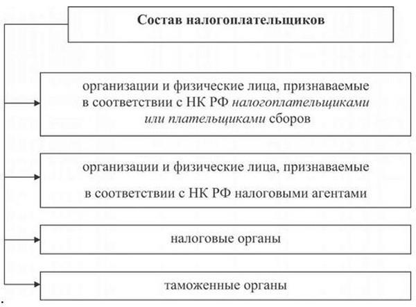 Состав налогоплательщиков